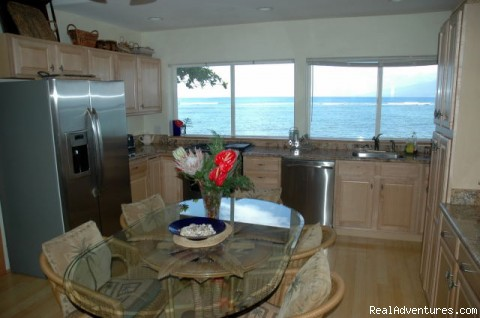 Ocean Views in the Spacious Kitchen - Ocean Front Lahaina Sunset Home!