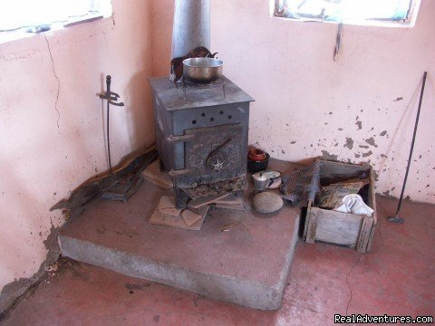 Stove in Guesthouse  | Image #9/16 | Remote Conservation Ranch By Copper Canyon Region