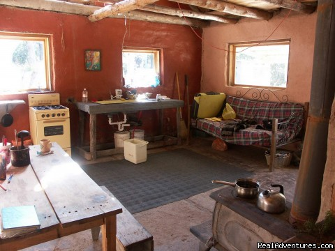 Bunkhouse kitchen - Remote Conservation Ranch By Copper Canyon Region