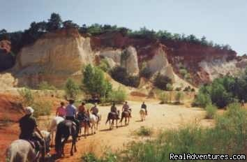A ride in the Provence Colorado - Cap Rando - Horseback Riding Vacations In Provence