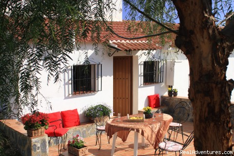 Terrasse with barbecue - Cortijo del Medico
