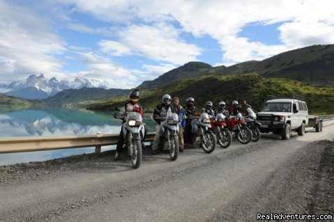 Compass Expeditions - Adventure Motorcycle Tours: Group Shot - Torres del Paine NP