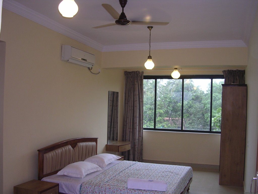 Bed  Room and View | Image #1/3 | Goa, India | Vacation Rentals | Goan Clove, The Self Catering  Apartment