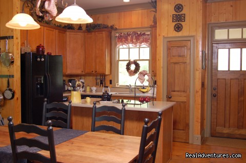 Kitchen Eating Area, seats up to 8 - Mountain Vista Home Rental in Big Canoe Resort