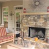 Screen Porch Wood Burning Fireplace