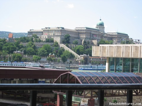 Castle View Studio in the centre of Budapest: Royal Palace view from the window