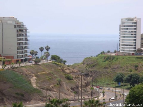 Another view from the master bedroom - Brand new Ocean View Condo in Miraflores