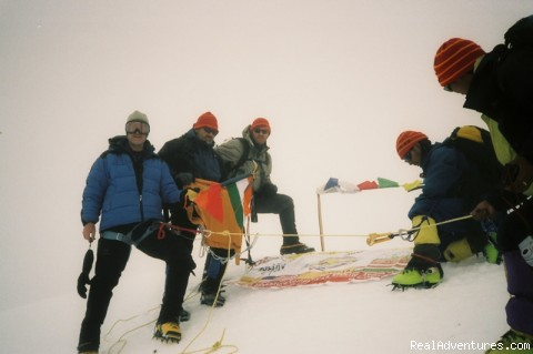Ric Devan, Bruce Kocka and Tom Ritchie onThingchinkhang peak - trekking and mountaineering in Sikkim India
