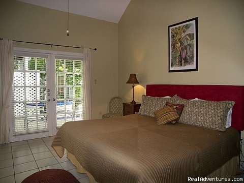another picture of king size bed - Key West Oasis 2 block walk to Duval Street