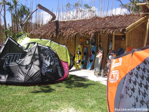Camp time - Boracay Habagat Kiteboarding and Aissatou Resort