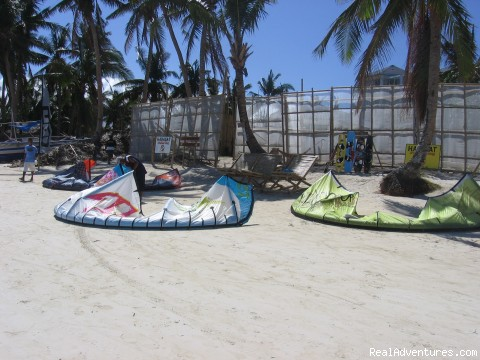 kiteboarding place - Boracay Habagat Kiteboarding and Aissatou Resort