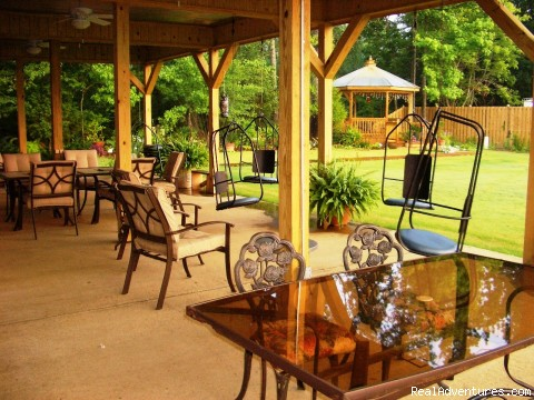 View from the backporch of Cart Barn Inn - Golfing Getaway at Cart Barn Inn @ Yoda Creek