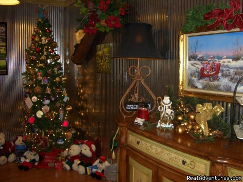 Cart Barn Inn decorated for Christmas - Cart Barn Inn