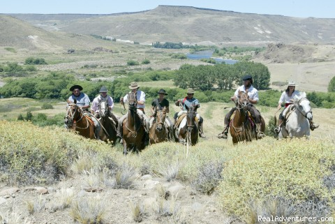 Somewhere in the Estancia - Horseback riding