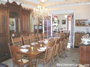 Impressively large dining room seats 18 - Rent a Victorian B&B, 2 blocks to the beach