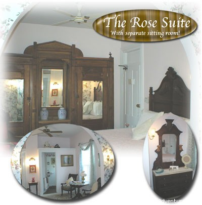 2nd Floor Master Suite Is Two Rooms - Rent a Victorian B&B, 2 blocks to the beach