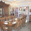 Impressively large dining room seats 18