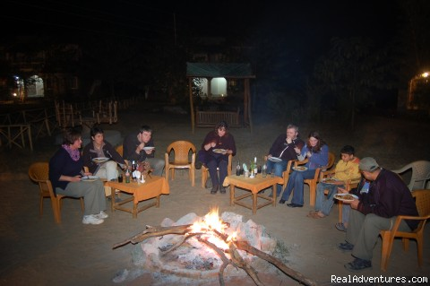 campfire barbeque - Mogli wildlife resort, Kanha and Bandhavgarh,India