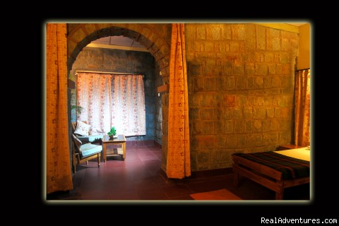 sitout area in cottage - Mogli wildlife resort, Kanha and Bandhavgarh,India