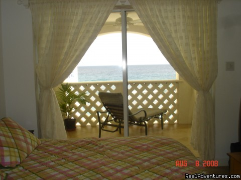 Bedroom with a magnificent view (#8 of 14) - Picturesque Beach Front Barbados 2 - Bdrm Condo