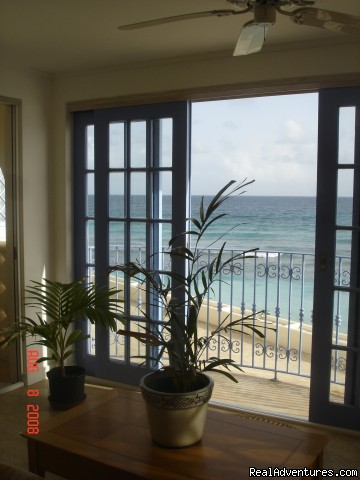 View from Livingroom - Picturesque Beach Front Barbados 2 - Bdrm Condo