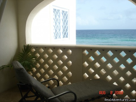 View from balcony in the bedroom - Picturesque Beach Front Barbados 2 - Bdrm Condo