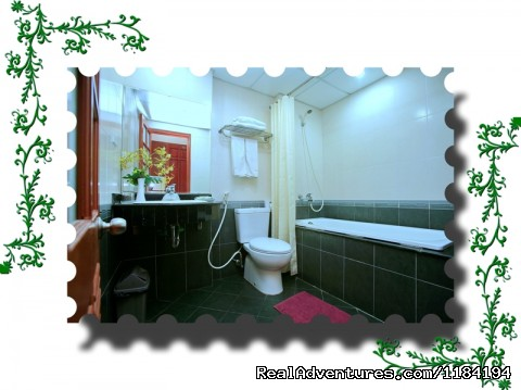 Rand new Bathrooms with Bath and shower - Hanoi Gecko Hotel