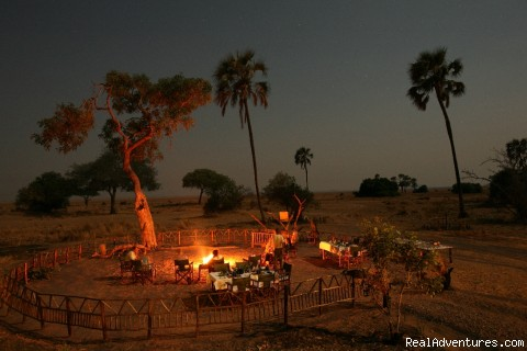 Chimpanzee Adventures in Western Tanzania: Bush Dinner at Katuma Bush Lodge