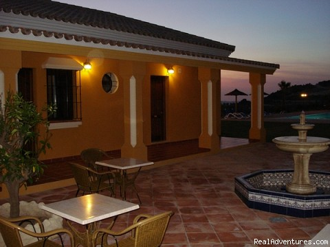 Patio at night - Cortijo Escondido in Arcos de la Frontera