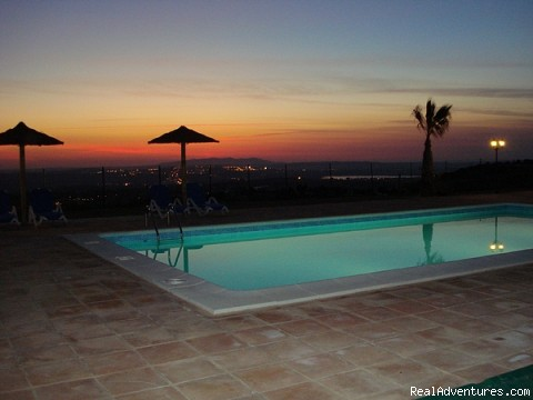 Swimming pool sunset - Cortijo Escondido in Arcos de la Frontera