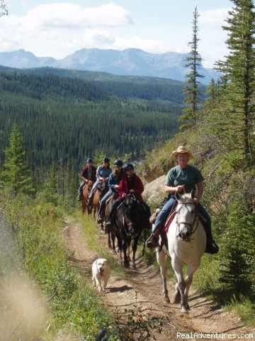 Trail Ride August 2008 - Old Entrance Trail Rides near Jasper National Park