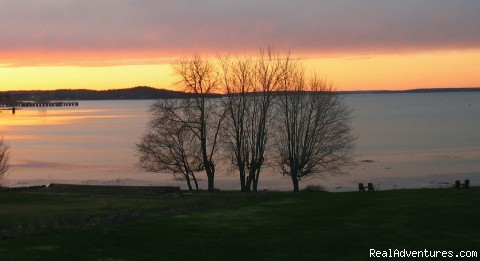 Sunset from the Saltair Inn - Romantic Bar Harbor Waterfront B & B