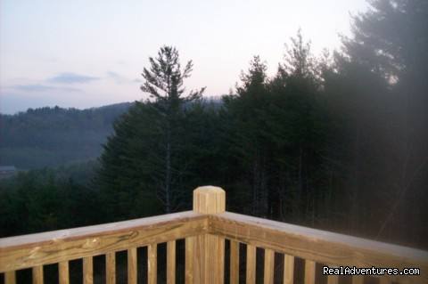 View from deck - Cabin retreat off the Blue Ridge Parkway
