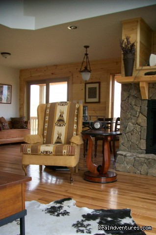 Relax next to the fireplace (#5 of 8) - Cabin retreat off the Blue Ridge Parkway