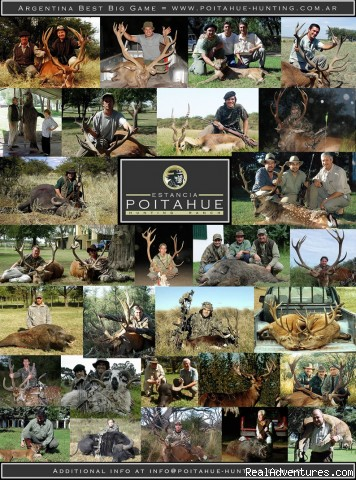 Argentina. Poitahue Hunting Ranch: Big Game hunting in Argentina. Poitahue Hunting Ranch