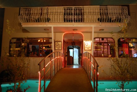 British operated Boutique Hotel & Bar: Hotel Entrance