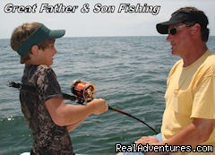Father & son fishing Gulf Shores - Gulf Shores fishing on your family vacation