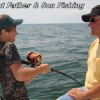 Gulf Shores fishing on your family vacation Father & son fishing Gulf Shores