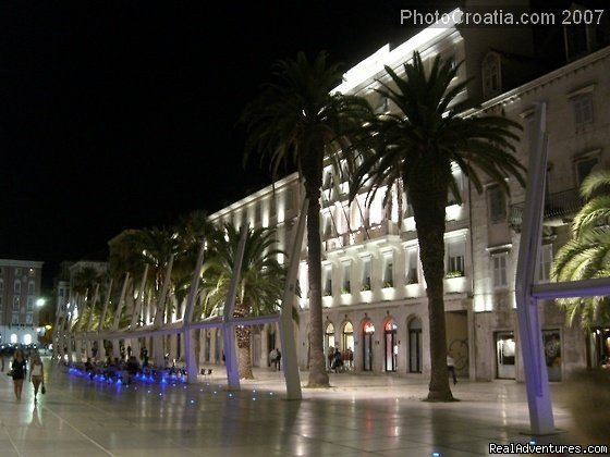 Riva promenade at night | Image #14/23 | A lovely apartment Marmont in heart of town Split