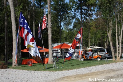 Gearing up for the Game - University Station RV Resort