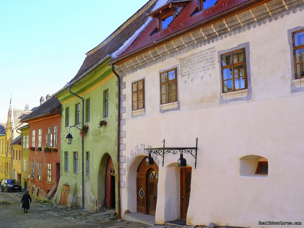 Medieval houses in Sighisoara citadel | Image #7/7 | Horse Riding Trips at Calimani Equestrian Centre