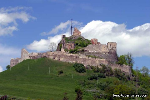Rupea Medieval Citadel, view from the road - Horse Riding Trips at Calimani Equestrian Centre