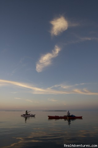 big beautiful backcountry skies are typical - National Wildlife Refuge Kayak & Boat Tours