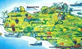 MAP - Sicily Holiday Home Rent Euro 20 Per Person