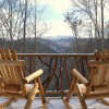 Log Cabin Vacation Rentals Great Smoky Mountain NC The viewing deck from Adohi Lodge