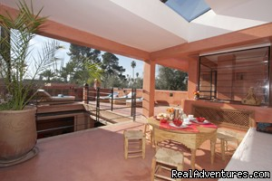 sun terrace lounge | Image #5/12 | Exclusive Riad Rental In Marrakesh Morocco