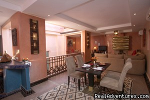 open plan living space | Image #3/12 | Exclusive Riad Rental In Marrakesh Morocco