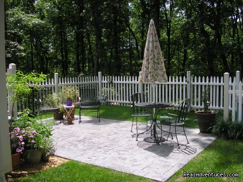 Patio (summer 09) - The Blue Cottage Rental - Lookout Mountain, GA