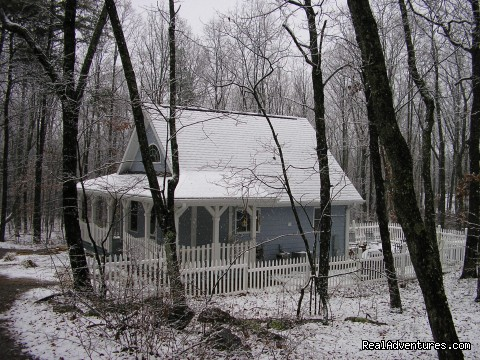 Side view (winter 08) - The Blue Cottage Rental - Lookout Mountain, GA