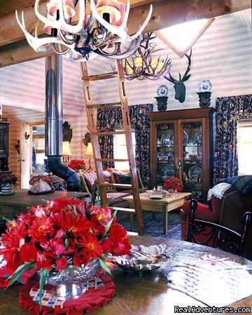 View of Great Room from Dining Area - Stowe Vacation Rentals